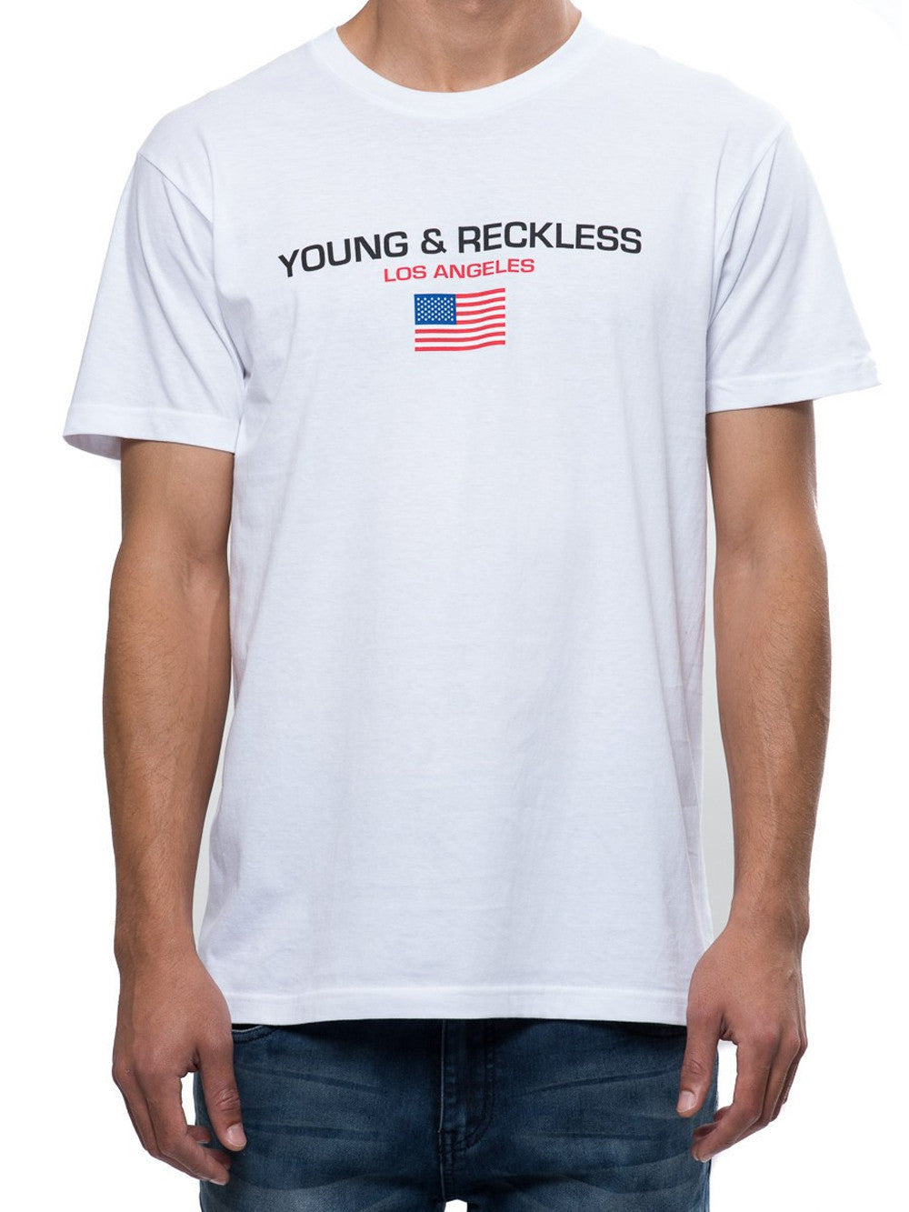 Young and Reckless Mens - Tees - Graphic Tee Liberty Tee - White