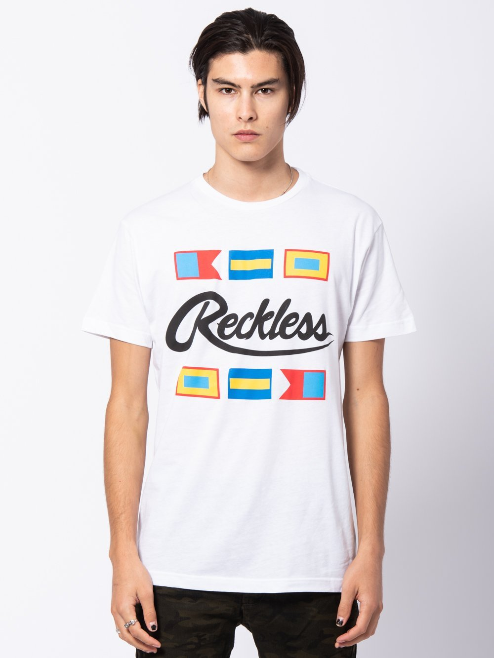 Young and Reckless Mens - Tees - Graphic Tee Maritime Tee - White