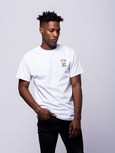 Young and Reckless Mens - Tees - Graphic Tee Mastermind Tee - White