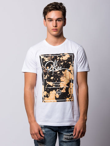 Young and Reckless Mens - Tees - Graphic Tee Mayflower Bleach Tee - White