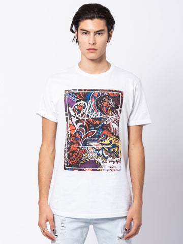 Young and Reckless Mens - Tees - Graphic Tee Mayflower Paisley Tee - White
