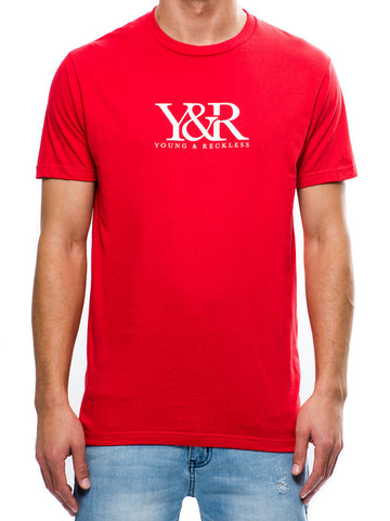 Young and Reckless Mens - Tees - Graphic Tee Mini Trade Tee- Red
