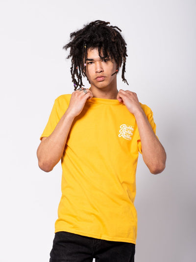 Young and Reckless Mens - Tees - Graphic Tee Mini Triplex Tee - Gold