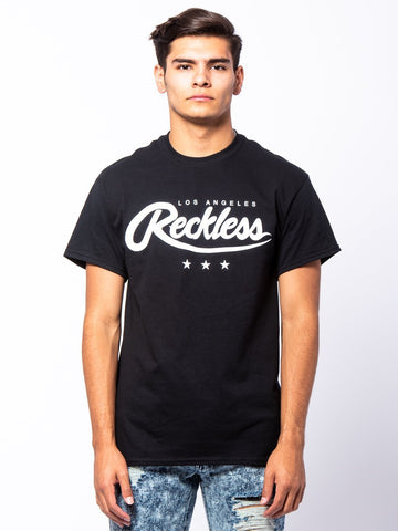 Young and Reckless Mens - Tees - Graphic Tee National Glory Tee - Black/White