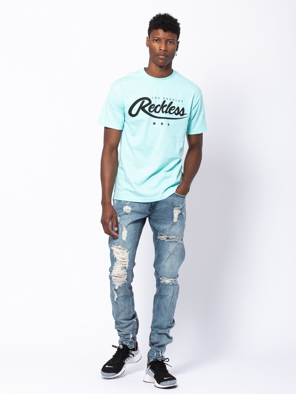 Young and Reckless Mens - Tees - Graphic Tee National Glory Tee - Celadon Green
