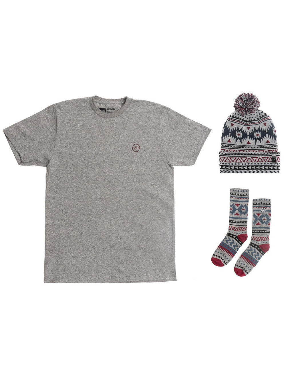 Young and Reckless Mens - Tees - Graphic Tee Native Bundle - Grey