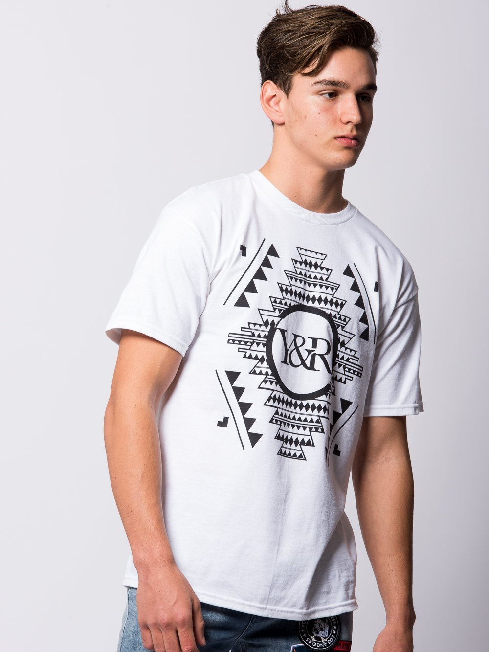 Young and Reckless Mens - Tees - Graphic Tee Native Customs Tee - White