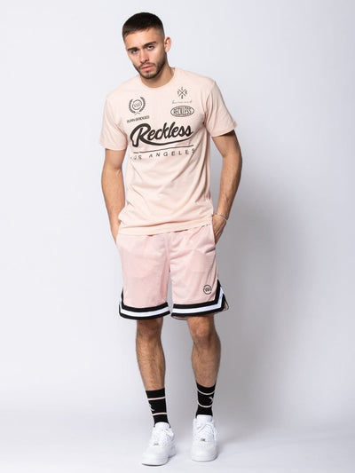 Young and Reckless Mens - Tees - Graphic Tee Nitrous Tee - Rose S / ROSE