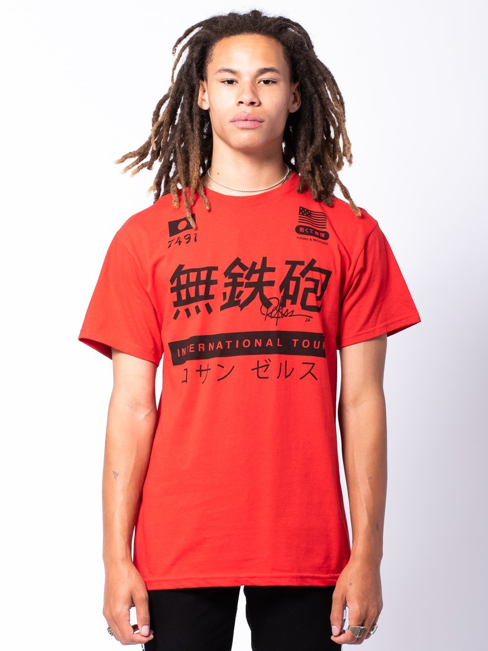 Young and Reckless Mens - Tees - Graphic Tee Norikura Tee - Red