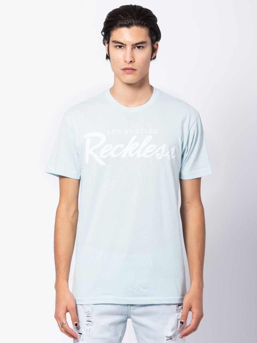 Young and Reckless Mens - Tees - Graphic Tee OG Reckless Tee - Baby Blue