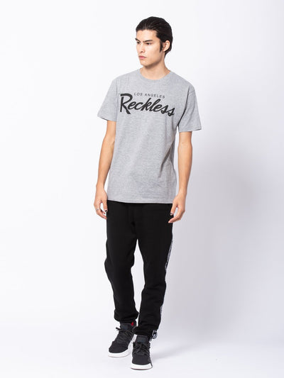 Young and Reckless Mens - Tees - Graphic Tee OG Reckless Tee - Heather Grey