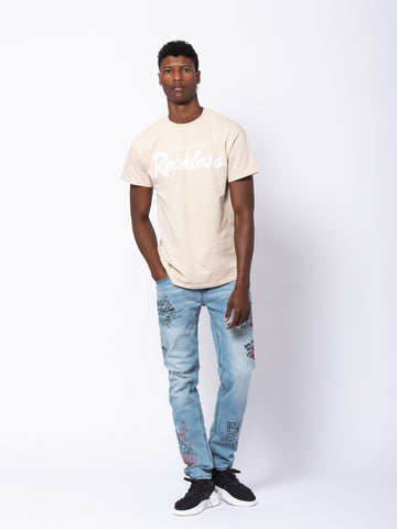 OG Reckless Tee - Sand/White
