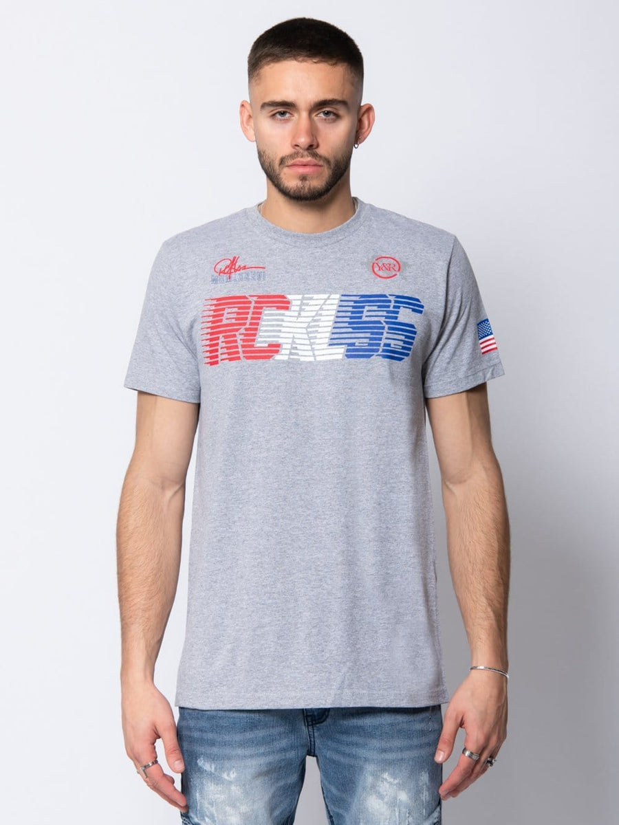 Young and Reckless Mens - Tees - Graphic Tee Olympiad Tee - Heather Grey S / HEATHER GREY
