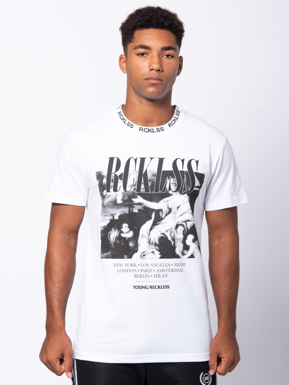 Young and Reckless Mens - Tees - Graphic Tee Ornate Tee - White