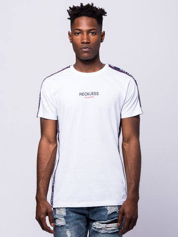 Young and Reckless Mens - Tees - Graphic Tee Out Of Bounds Tee - White