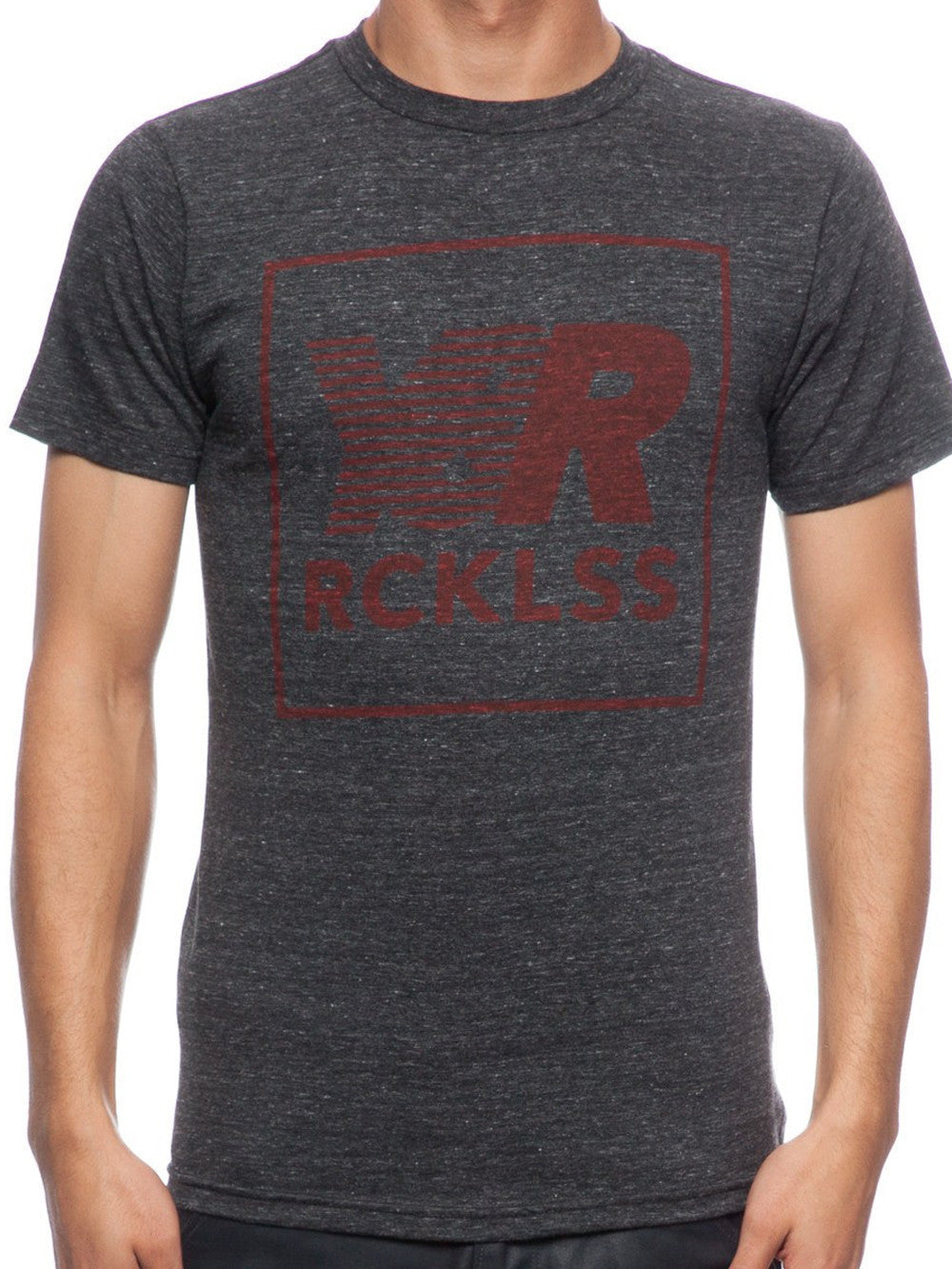 Young and Reckless Mens - Tees - Graphic Tee Pacer Quad Tee- Charcoal