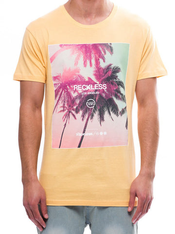 Young and Reckless Mens - Tees - Graphic Tee Pacific Palms Tee- Squash