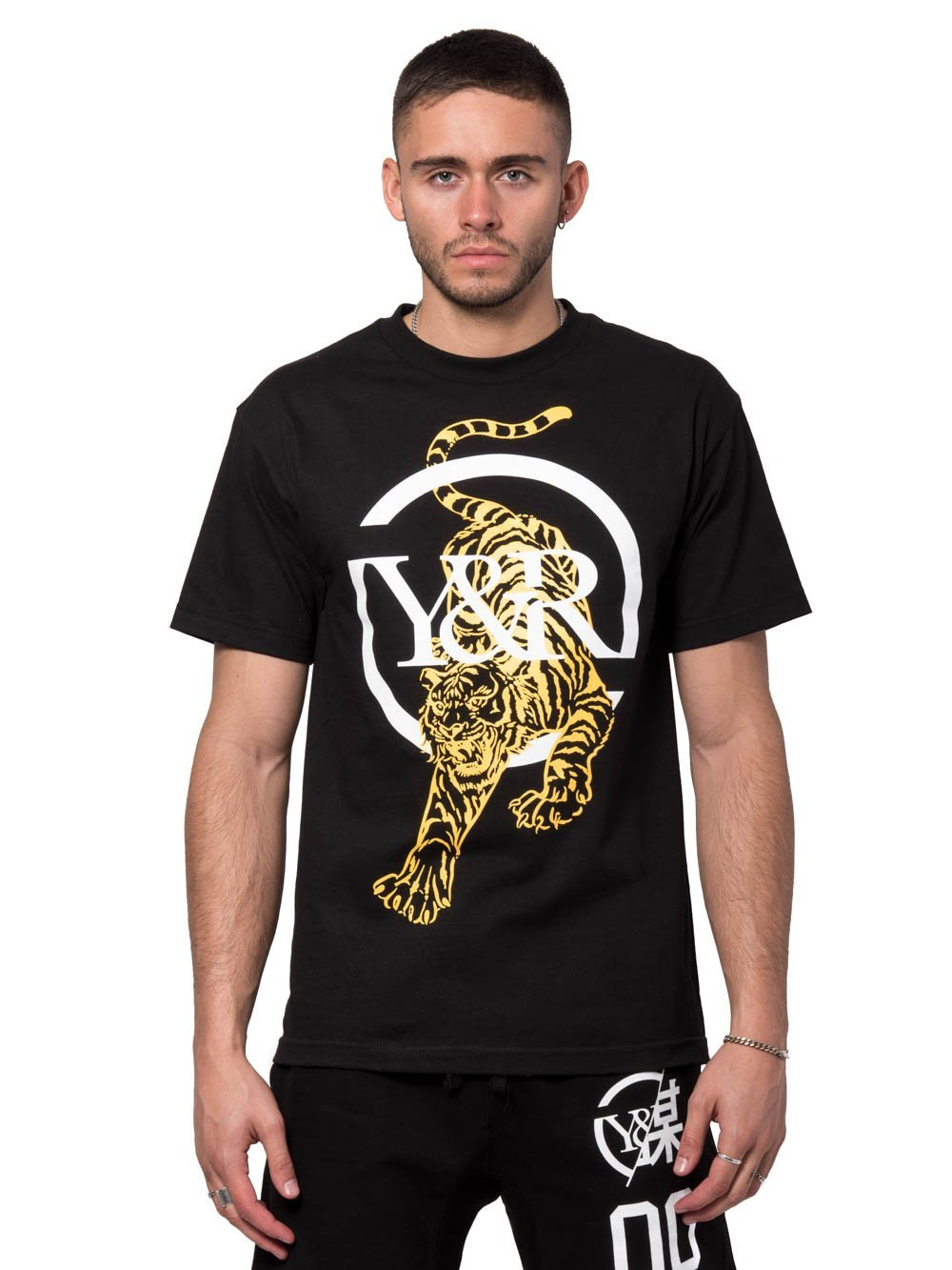 Young and Reckless Mens - Tees - Graphic Tee Panthera Tee - Black