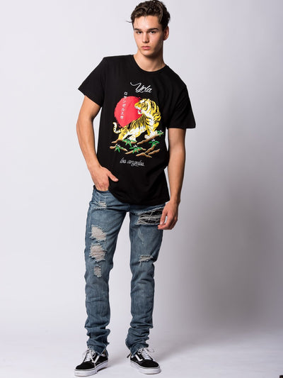 Young and Reckless Mens - Tees - Graphic Tee Pedigree Tee - Black