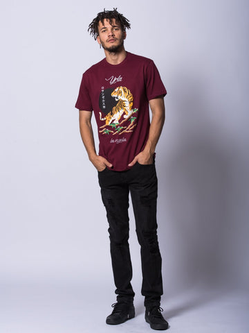 Pedigree Tee- Burgundy
