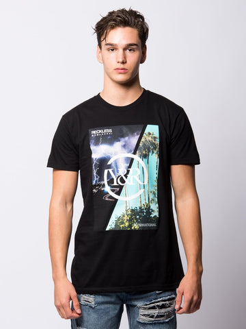 Young and Reckless Mens - Tees - Graphic Tee Perfect Storm Tee - Black