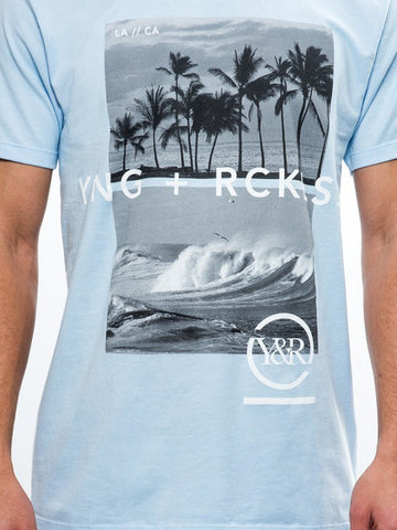 Pitted Times Tee- Baby Blue