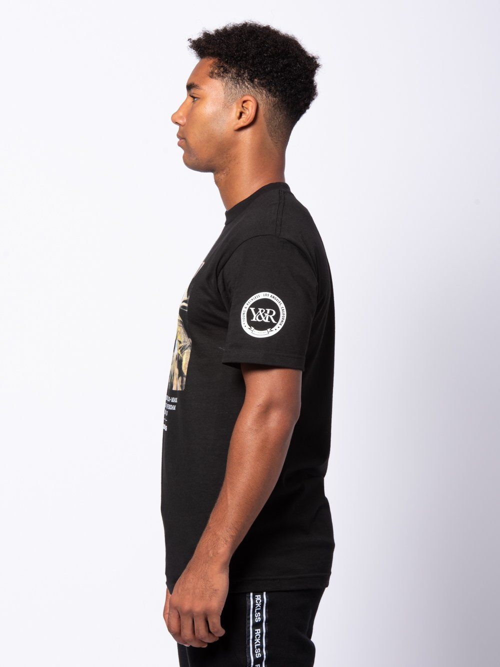 Young and Reckless Mens - Tees - Graphic Tee Prestige Tee - Black