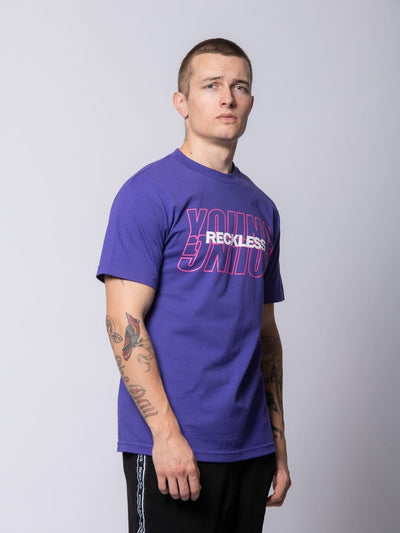 Young and Reckless Mens - Tees - Graphic Tee Reciprocal Tee - Purple S / PURPLE