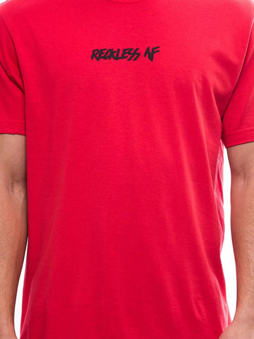 Reckless AF Tee- Red