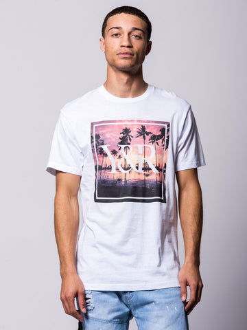 Young and Reckless Mens - Tees - Graphic Tee Reflections Trade Tee- White