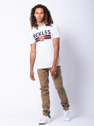 Regal Tee - White/Blue