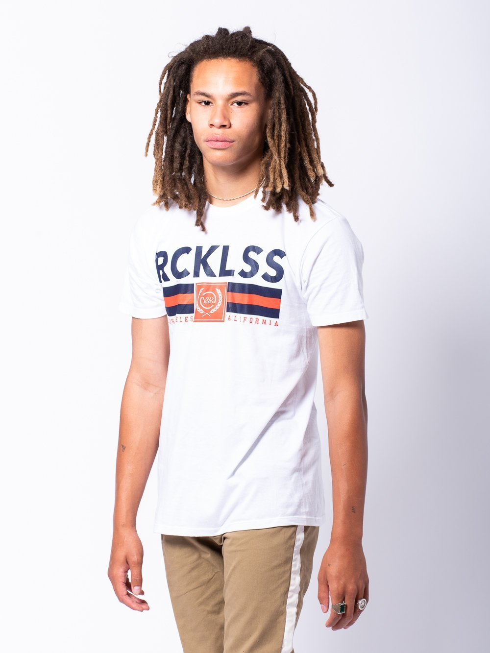 Young and Reckless Mens - Tees - Graphic Tee Regal Tee - White