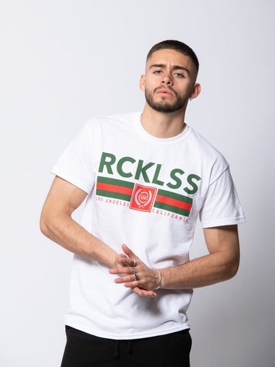 Young and Reckless Mens - Tees - Graphic Tee Regal Tee - White/Green S / WHITE/GREEN