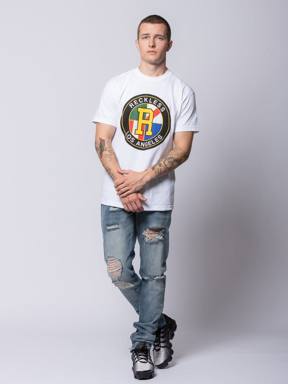 Young and Reckless Mens - Tees - Graphic Tee Regalia Tee - White S / WHITE
