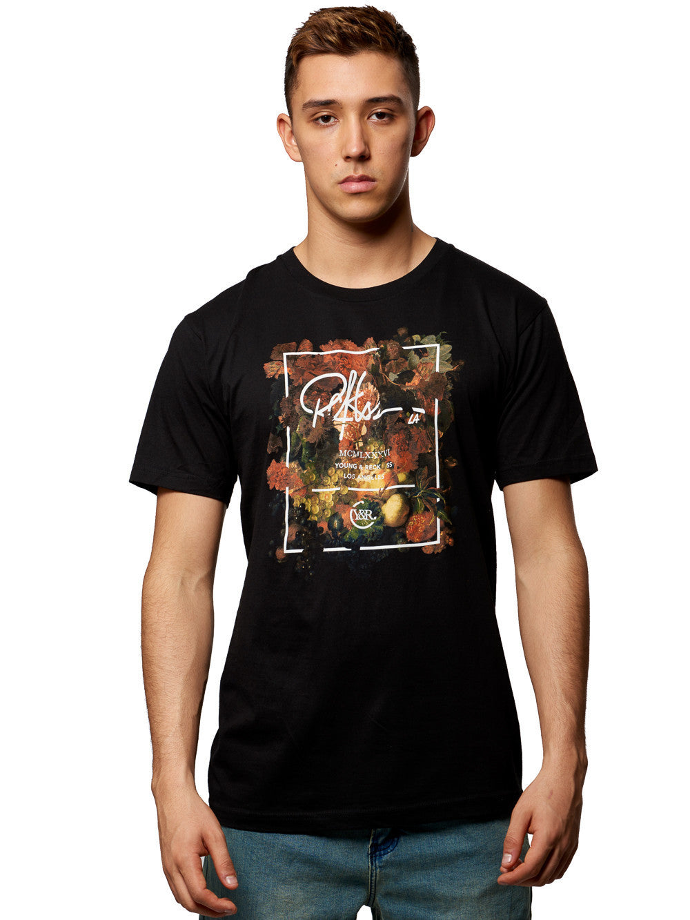 Young and Reckless Mens - Tees - Graphic Tee Renaissance Tee- Black
