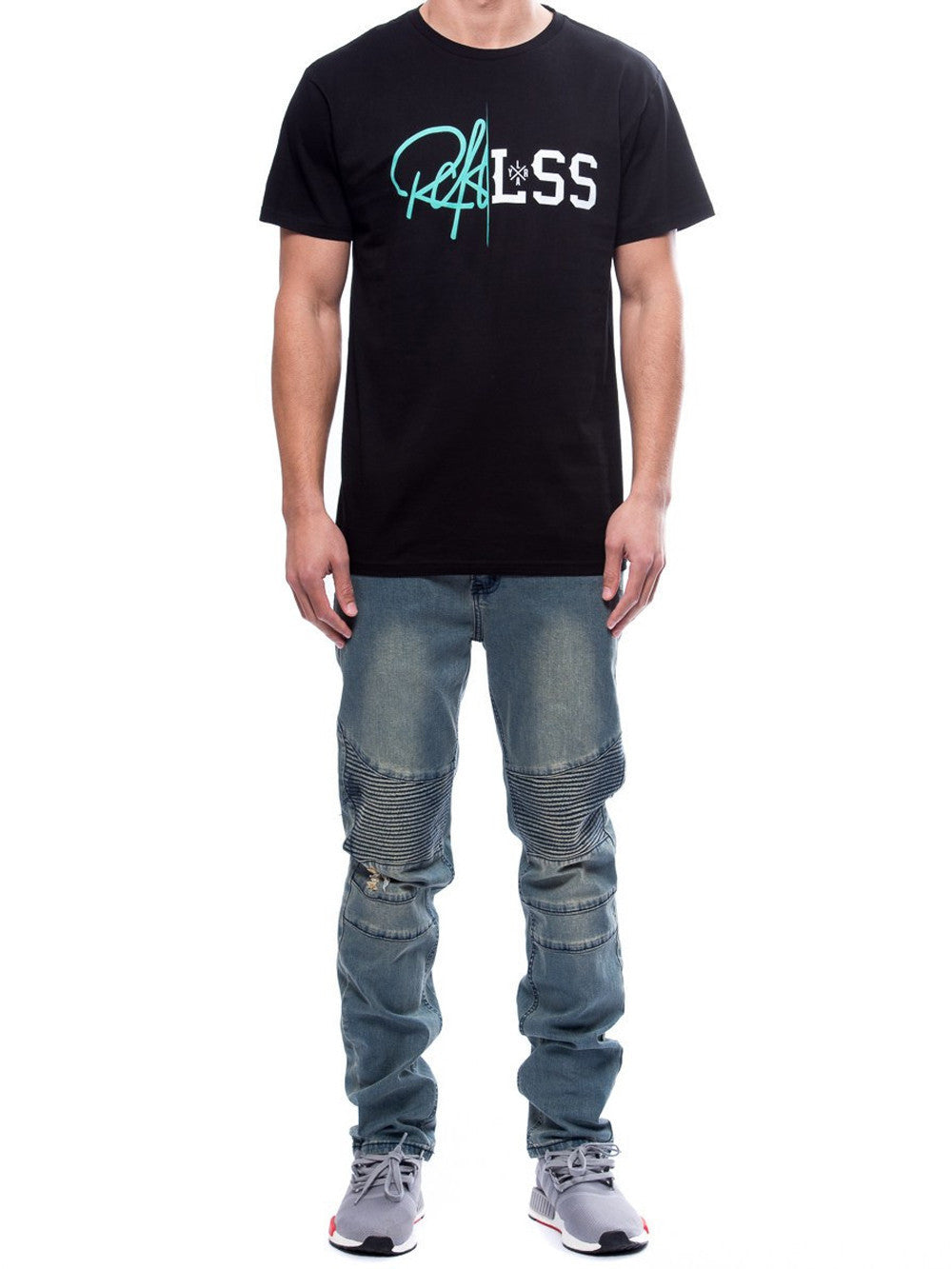 Young and Reckless Mens - Tees - Graphic Tee Rift Tee- Black
