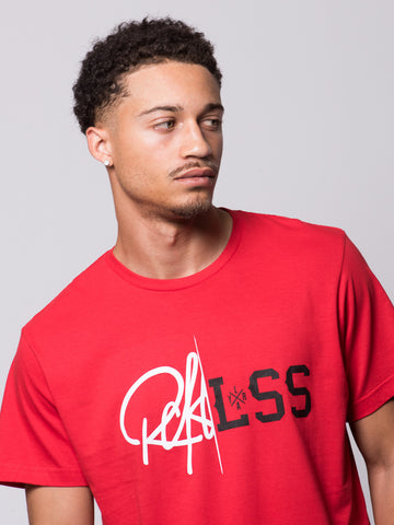 Young and Reckless Mens - Tees - Graphic Tee Rift Tee- Red
