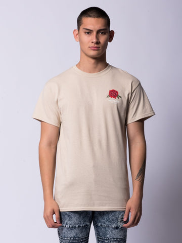 Young and Reckless Mens - Tees - Graphic Tee Rosecrans Tee- Sand