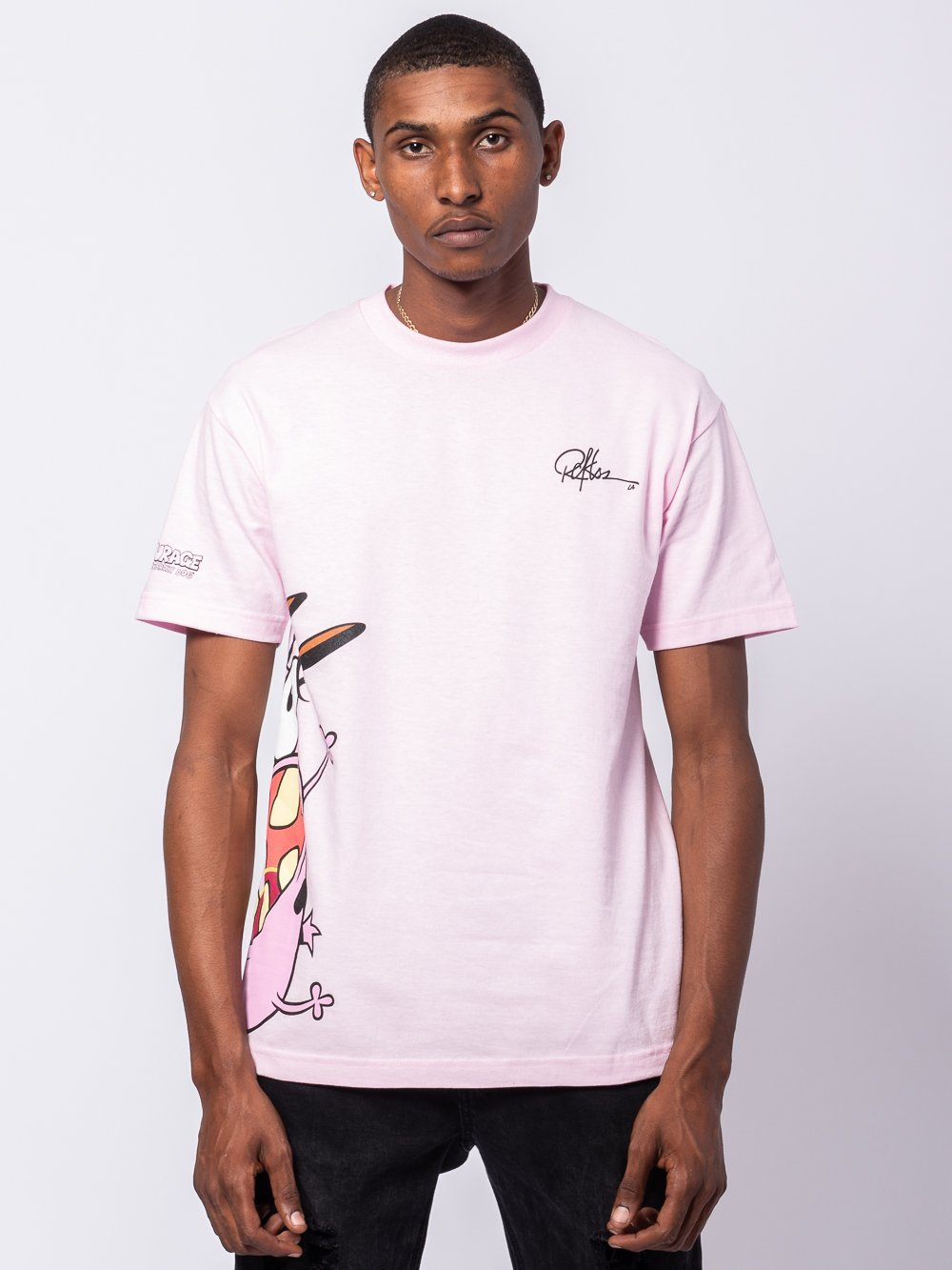 Young and Reckless Mens - Tees - Graphic Tee Run Courage Run Tee - Pink