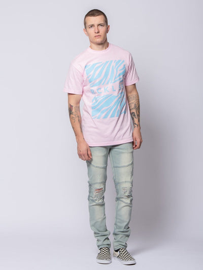 Young and Reckless Mens - Tees - Graphic Tee Sahara Tee - Light Pink S / LIGHT PINK