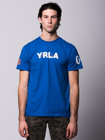 Young and Reckless Mens - Tees - Graphic Tee Sanctioned Tee - Royal Blue