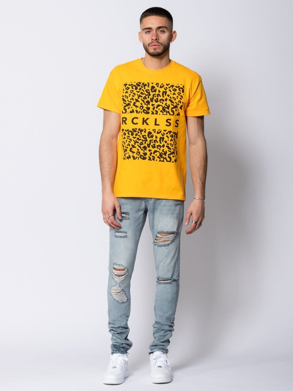 Young and Reckless Mens - Tees - Graphic Tee Savannah Tee - Gold S / GOLD
