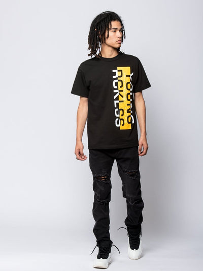 Young and Reckless Mens - Tees - Graphic Tee Seaport Tee - Black S / BLACK