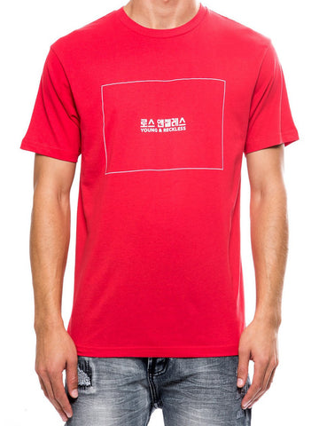 Young and Reckless Mens - Tees - Graphic Tee Seoul Tee - Red