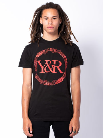 Young and Reckless Mens - Tees - Graphic Tee Serpent Tee - Black/Red