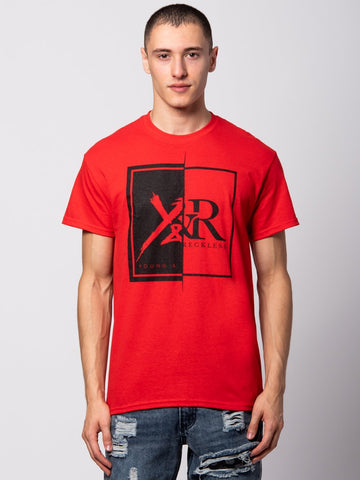 Young and Reckless Mens - Tees - Graphic Tee Shattered Tee - Red
