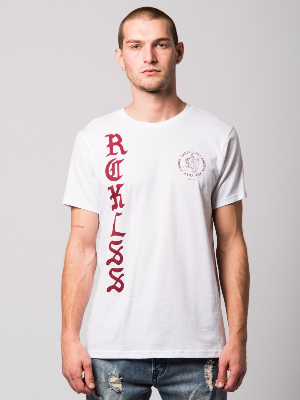 Young and Reckless Mens - Tees - Graphic Tee Sheer Tee- White