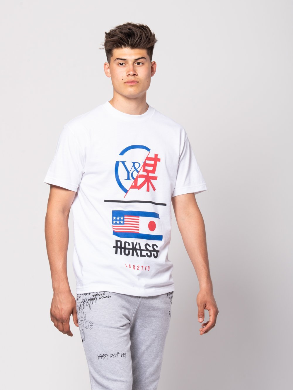 Young and Reckless Mens - Tees - Graphic Tee Shinjuku Tee - White