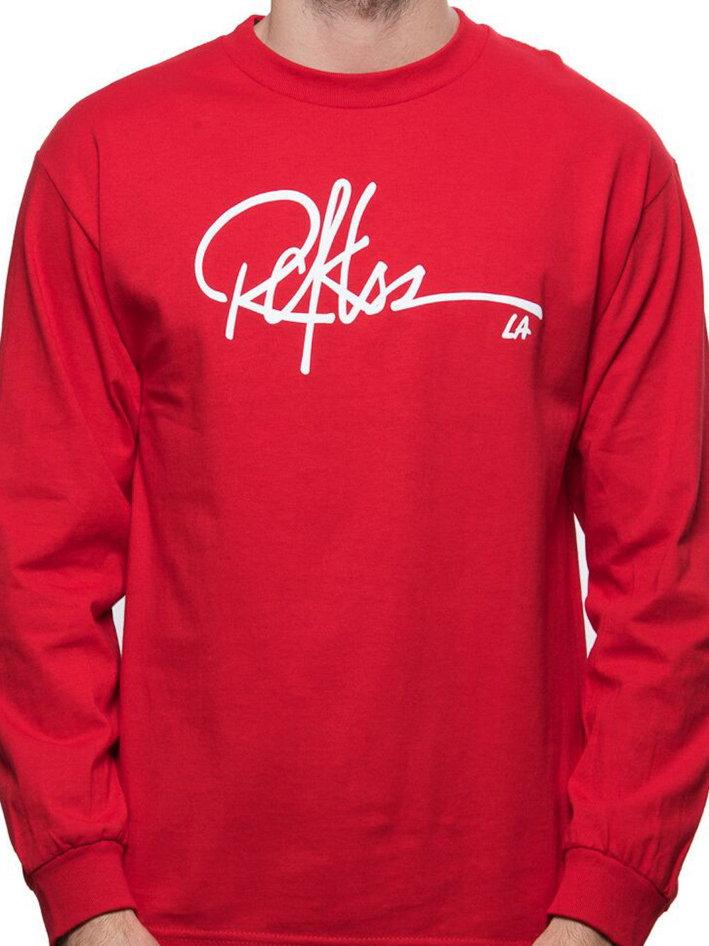 a2db454eaf36 Young and Reckless Mens - Tees - Graphic Tee Signature Long Sleeve - Red ...