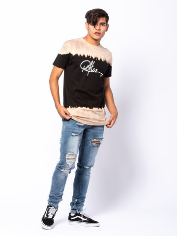 Signature Long Tee - Black/Tan